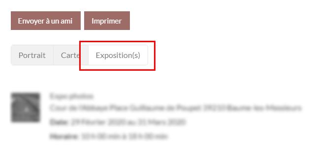 Lier vos expositions et votre profil